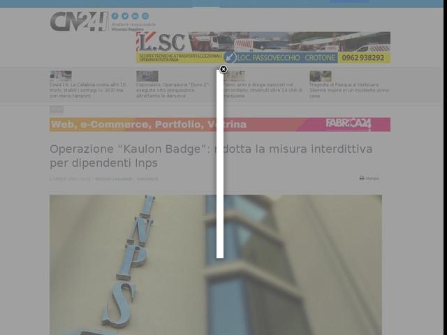"""Operazione """"Kaulon Badge"""": ridotta la misura interdittiva per i dipendenti Inps"""