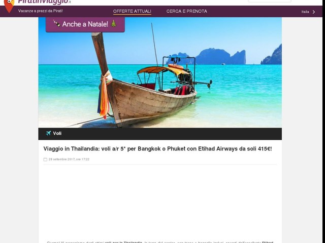 Viaggio in Thailandia: voli a/r 5* per Bangkok o Phuket con Etihad Airways da soli 415€!