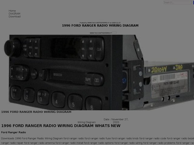 Ford Ranger Radio Wiring Diagram
