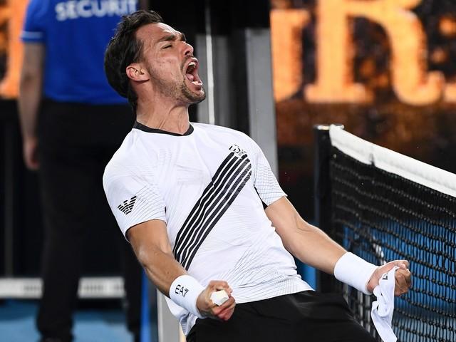 Australian Open: Fognini avanti col brivido, fuori Berrettini e Sinner