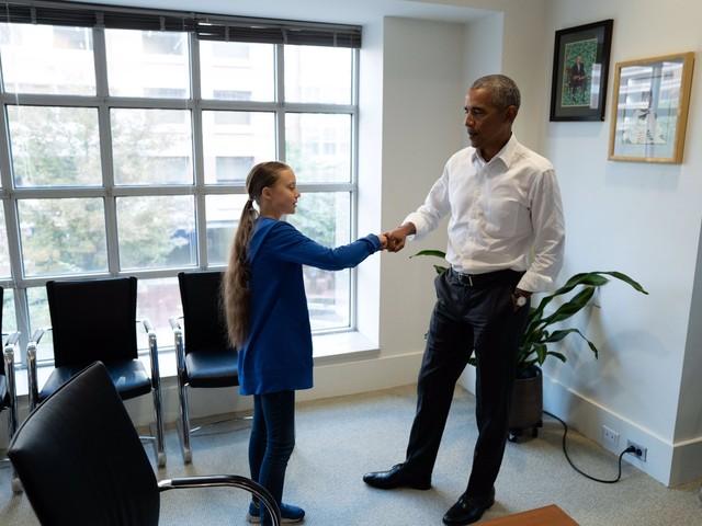 Obama celebra Greta Thunberg: è la paladina della sinistra globale