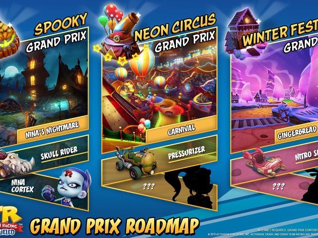 Crash Team Racing Nitro Fueled: tre nuovi Grand Prix in arrivo