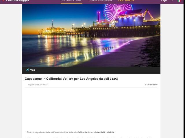 Capodanno in California! Voli a/r per Los Angeles da soli 383€!