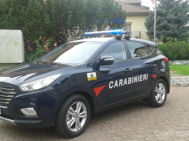 A Bolzano - Consegnata una ix35 a idrogeno ai carabinieri