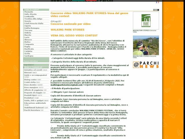 Ente di gestione per i Parchi e la Biodiversita' - Romagna - Concorso video WALKING PARK STORIES-Vena del gesso video contest