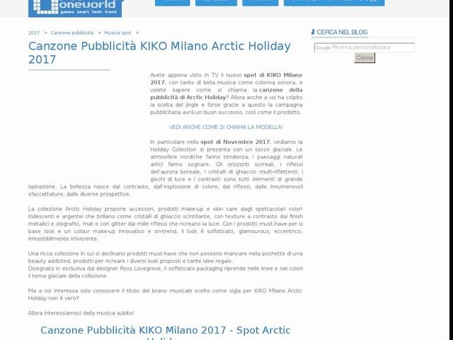 Canzone Pubblicità KIKO Milano Arctic Holiday 2017