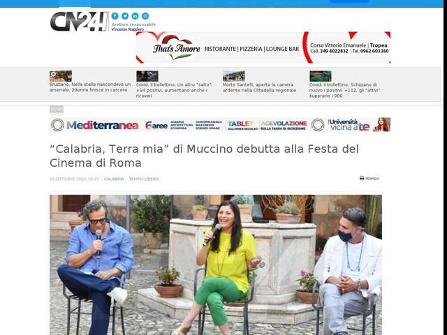 """""""Calabria, Terra mia"""" di Muccino debutta alla Festa del Cinema di Roma"""