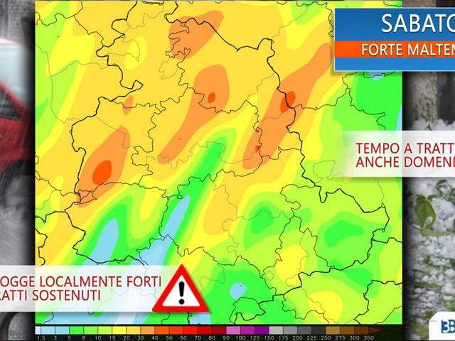 Meteo Umbria - INTENSA PERTURBAZIONE in arrivo nel weekend