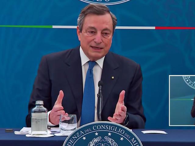 """Libia, Draghi: """"Ho detto al premier che l'Italia vuole il superamento dei centri di detenzione"""""""