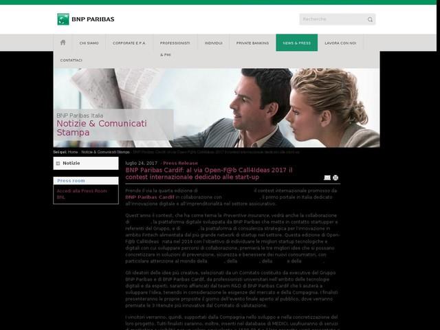 BNP Paribas Cardif: al via Open-F@b Call4Ideas 2017 il contest internazionale dedicato alle start-up