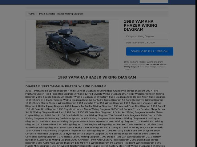 Yamaha Phazer Wiring Diagram