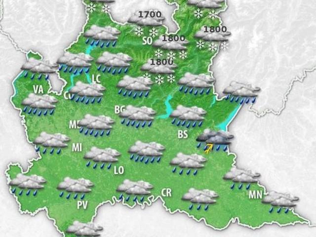 Meteo LOMBARDIA: MALTEMPO in arrivo, tanta pioggia e NEVE sulle Alpi