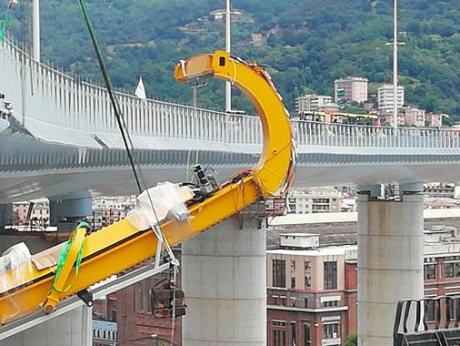 Il nuovo ponte di Genova parla anche casalese: le spazzole di Favagrossa nell'innovativo sistema Robot Wash