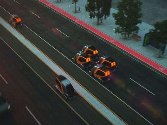 Le citycar si muovono come sciami di api