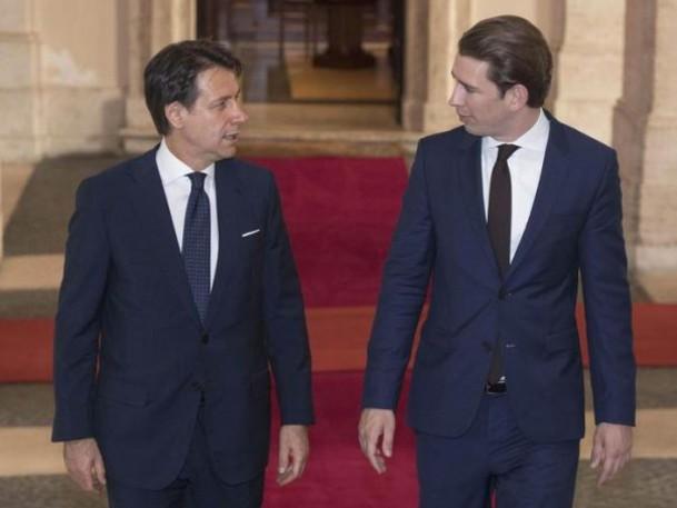 Conte: migranti e doppio passaporto per gli altoatesini. Incontro col cancelliere austriaco Kurz