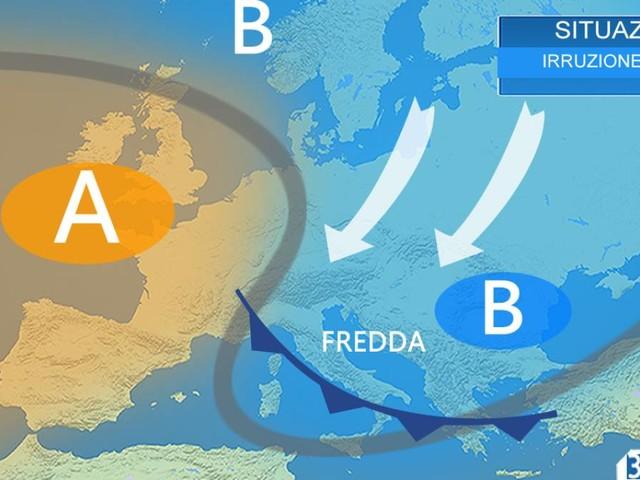 Meteo ITALIA- A tratti instabile sino a Venerdì al Centro Sud. Più sole e meno FREDDO nel weekend