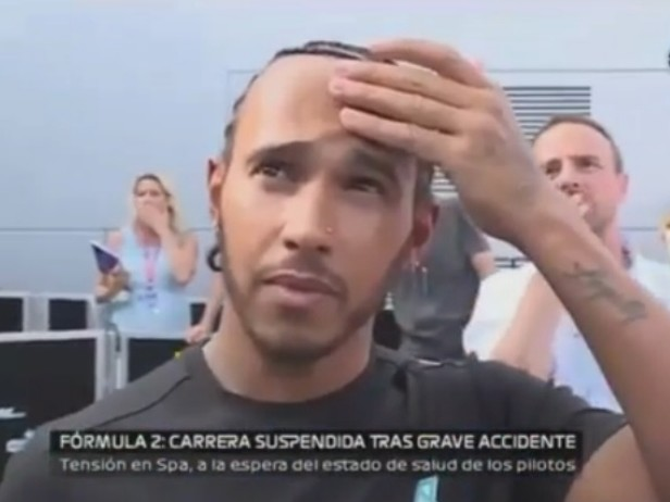 Incidente Hubert, la reazione di Hamilton. VIDEO