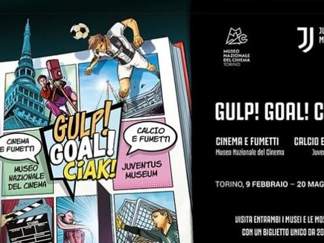 """"""" Gulp! Goal! Ciak! Calcio e fumetti"""" allo Juventus Museum e al Museo del Cinema"""