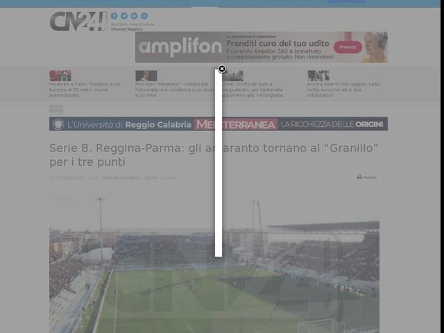 """Serie B. Reggina-Parma: gli amaranto tornano al """"Granillo"""" per i tre punti"""