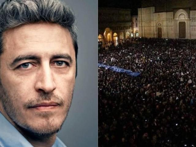 Sardine, anche Pif sul palco di Bologna: 'Salvini simbolo di una politica pericolosa'