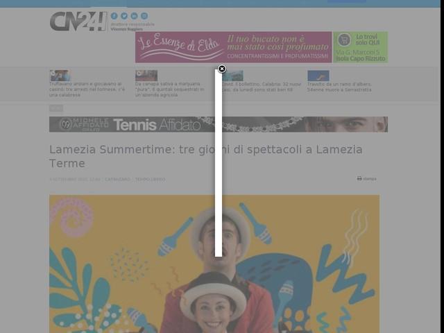 Lamezia Summertime: tre giorni di spettacoli a Lamezia Terme
