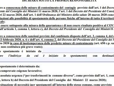 Autocertificazione PDF Covid editabile [ultima versione]