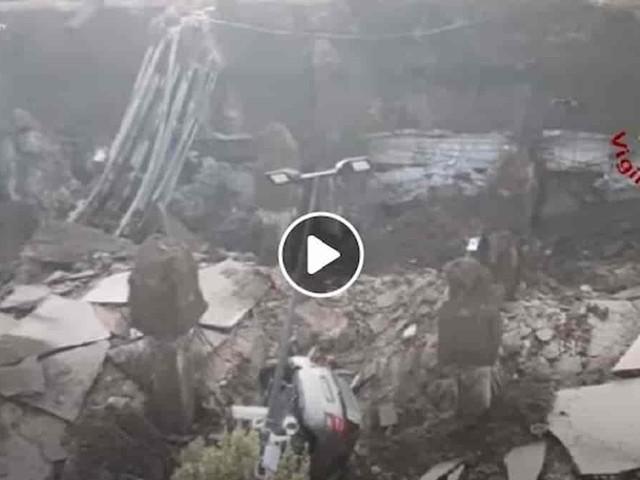 Voragine ad Abbadia San Salvatore (Siena): salvato uomo precipitato a 7 metri di profondità