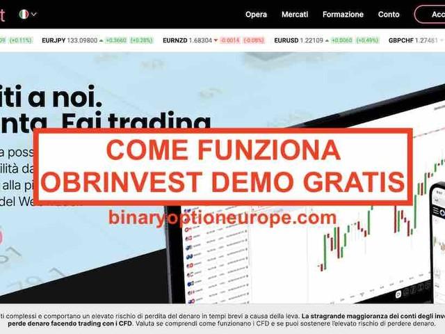 OBRinvest demo gratis: Come funziona il conto demo [2021]