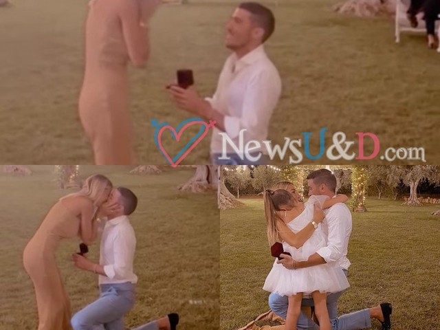 Romantica proposta di matrimonio per Sabrina Ghio