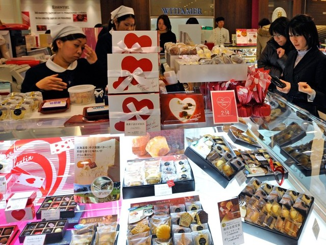 La lobby giapponese del San Valentino obbligatorio