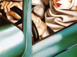 Autoritratto nella Bugatti verde di Tamara De Lempicka
