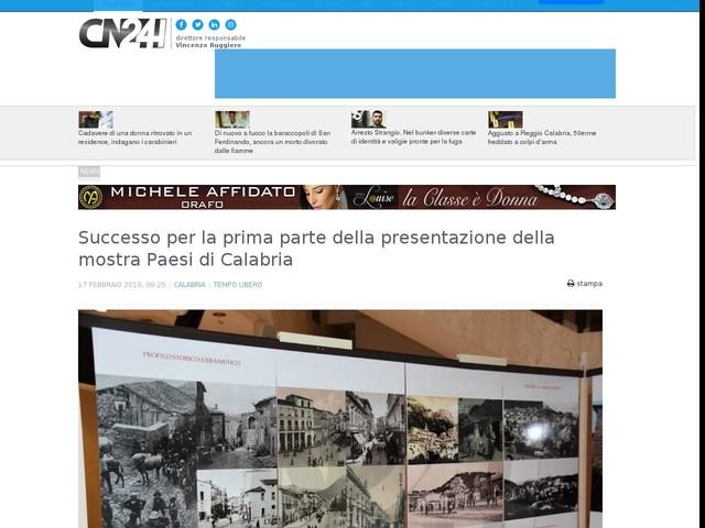 Successo per la prima parte della presentazione della mostra Paesi di Calabria