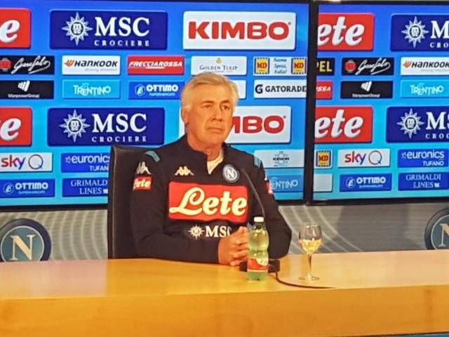 """Ancelotti: """"Questione Insigne superata. De Laurentiis ha chiarito molti aspetti. Col Verona dobbiamo tornare a fare punti. Crediamo allo scudetto"""""""