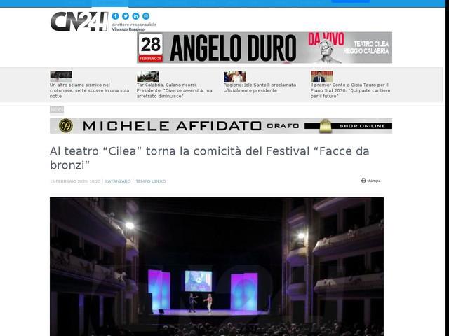 """Al teatro """"Cilea"""" torna la comicità del Festival """"Facce da bronzi"""""""