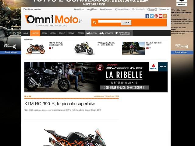 KTM RC 390 R, la piccola superbike