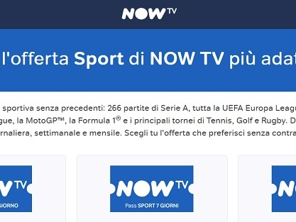 Offerte Now Tv calcio: Serie A e Champions League in streaming. I pacchetti