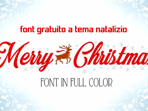 Merry Christmas Color Font | font gratuito a tema natalizio - Web Apps Magazine
