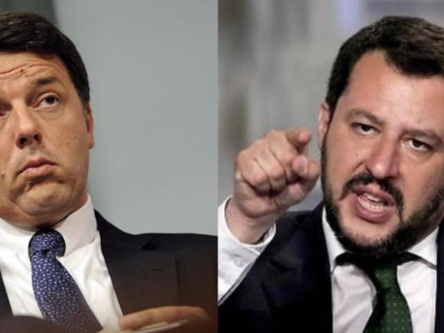 """Salvini contro Renzi: il grande duello domani a """"Porta a Porta"""""""