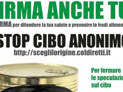 """Coldiretti Fvg: """"Stop cibo anonimo"""", ultimo sprint verso il milione di firme"""