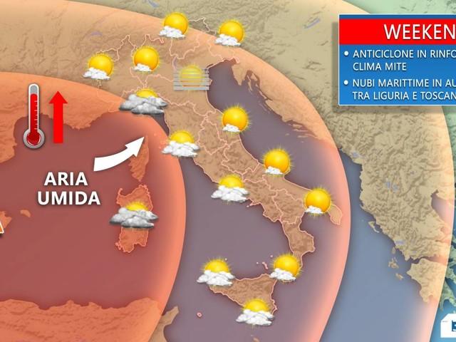 Meteo > Weekend di CARNEVALE con UN CALDO ANTICICLONE e locali nubi. Dettagli