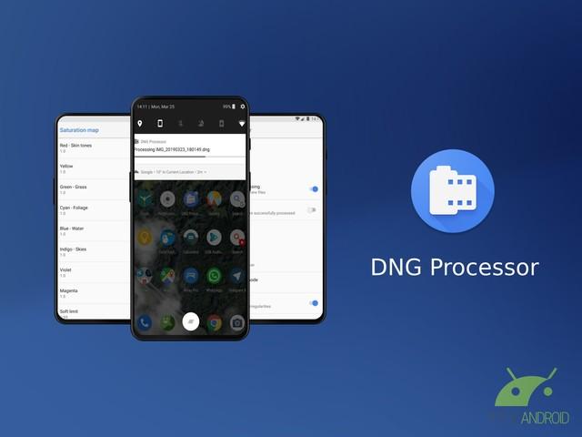 DNG Processor elabora in background le immagini RAW acquisite