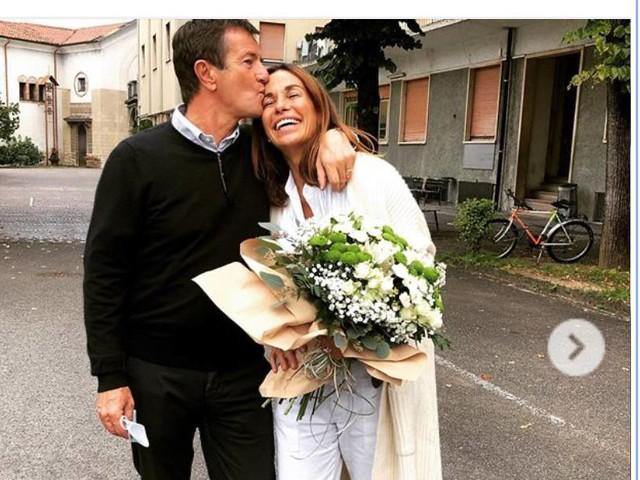Nozze d'argento per Cristina Parodi che festeggia con un altro sì a Giorgio Gori (Foto)