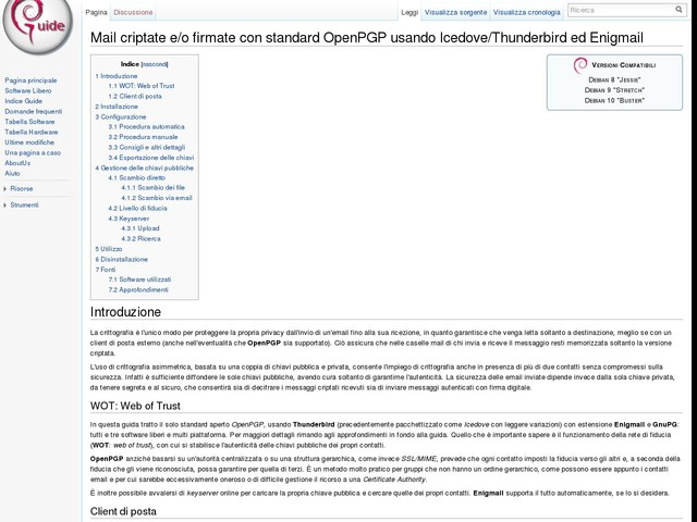 Mail criptate e/o firmate con standard OpenPGP usando Icedove/Thunderbird ed Enigmail