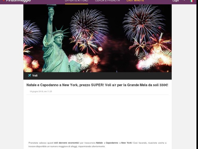 Natale e Capodanno a New York, prezzo SUPER! Voli a/r per la Grande Mela da soli 330€!