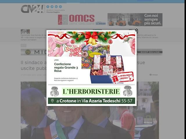 """Il sindaco a Cerelli (Lega): """"Grazie di cuore per le sue uscite pubbliche"""""""