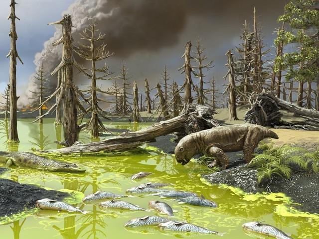 La peggiore estinzione di massa di sempre causata da cambiamento climatico e fioriture di alghe tossiche?