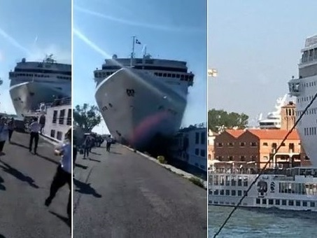 Venezia, incidente nave da crociera Msc contro battello e banchina: 4 feriti VIDEO «Blackout comandi»