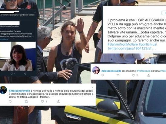 La sagra dell'insulto contro il gip di Agrigento che non ha convalidato l'arresto di Carola Rackete