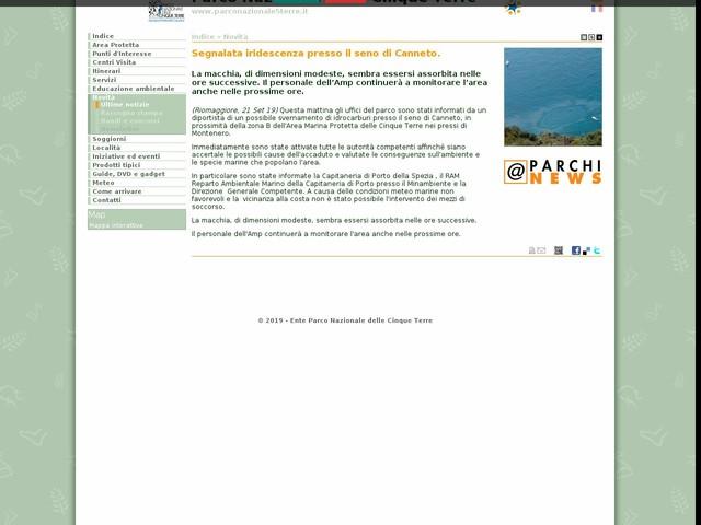 PN Cinque Terre - Segnalata iridescenza presso il seno di Canneto.