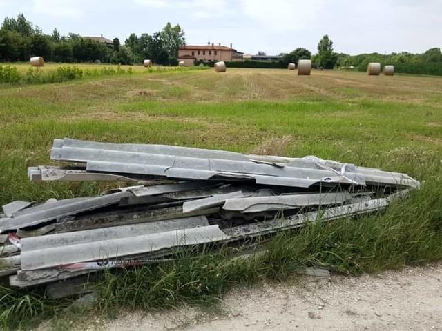 Eternit nei pressi del cimitero di Dese: scattano i controlli dei Rangers d'Italia